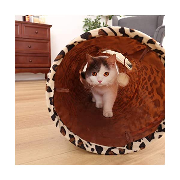 "PAWZ Road Cat Toys Collapsible Tunnel Dog Tube for Fat Cat,Rabbits,Dogs Length 51"" Diameter 12"" 6"