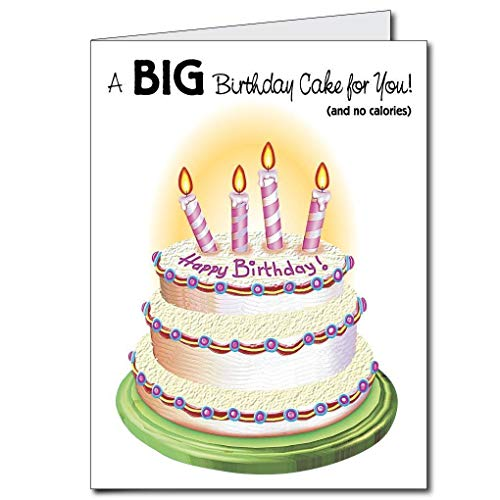 VictoryStore Jumbo Greeting Cards Giant Birthday Card Cake 2x 3 With Envelope