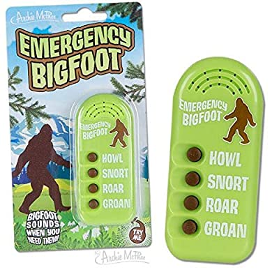 Archie McPhee Emergency Bigfoot Electronic Noisemaker,Multi-colored,One Size: Clothing