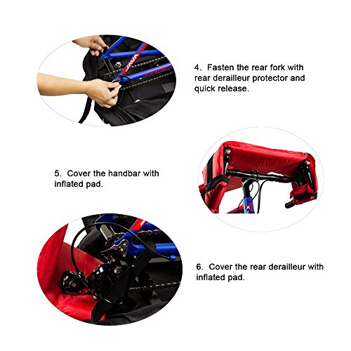 Lixada Automatically Inflatable Pad Bike Transport Travel Bike Carry Bag Nylon Pad Bag for 700C Road Bike by Lixada (Image #7)'