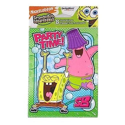 Amazoncom SpongeBob Squarepants Birthday Party Invitations Thank