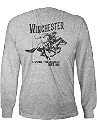 "<span class=""a-offscreen"">[Sponsored]</span>Official Winchester Mens Cotton Vintage Rider Graphic Printed Long Sleeve T-Shirt (XXL, Sport Grey)"
