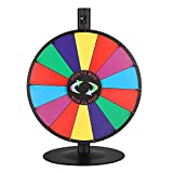WinSpin 18'' Tabletop Editable Color Prize Wheel 14 Slot Spinning Game Steel Base w/Dry Erase Tradeshow Carnival