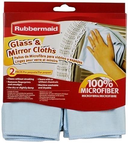 Rubbermaid FG6M0106 2-Pack Microfiber Dusting Cloth, Green