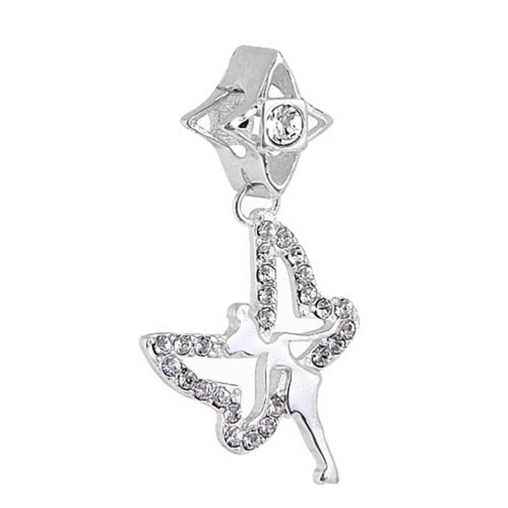 Colgante Campanilla Europea aut/éntica 925/plata de ley Charm Abalorio Cuenta con Cristales de Australia para compatible con marca pulsera