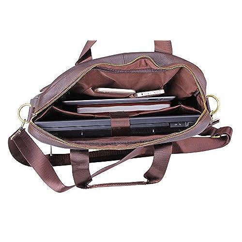 59dfb9366737 GUSTT® Newest Fashion Men s Genuine Leather RFID Blocking Secure Briefcase  Shoulder Messenger Bag 85%