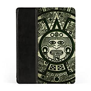 Mayan Naui Olin Premium Faux PU Leather Case, Protective Hard Cover Flip Case for Apple? iPad 2 / 3 and iPad 4 by DevilleArt + FREE Crystal Clear Screen Protector