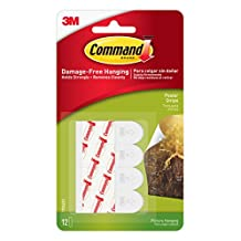 Command Poster Hanging Strips, Small, White, 12-Strip, 6-Pack
