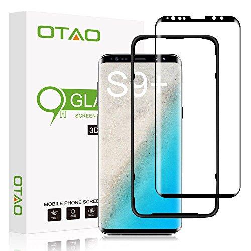OTAO Galaxy S9 Plus Screen Protector Tempered Glass, [Update Version] 3D Curved Dot Matrix [Full Screen Coverage] Samsung Galaxy S9 Plus Screen Protector (6.2