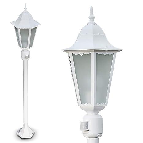 Exterior Lámpara de pie Hong Kong Frost con detector de ...