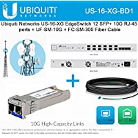 Ubiquiti Networks US-16-XG EdgeSwitch + UF-SM-10G Fiber + FC-SM-300 Fiber Cable