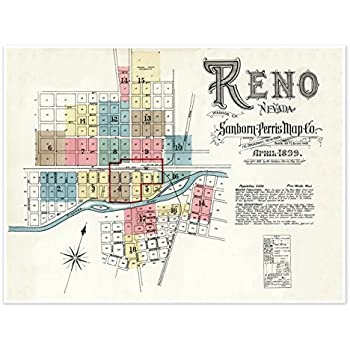 Amazon.com: MAP of the city of RENO NEVADA by the Sanborn Map ... on