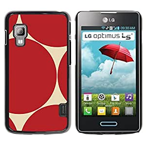 TopCaseStore / la caja del caucho duro de la cubierta de protección de la piel - Pattern Sharp Repeating - LG Optimus L5 II Dual E455 E460