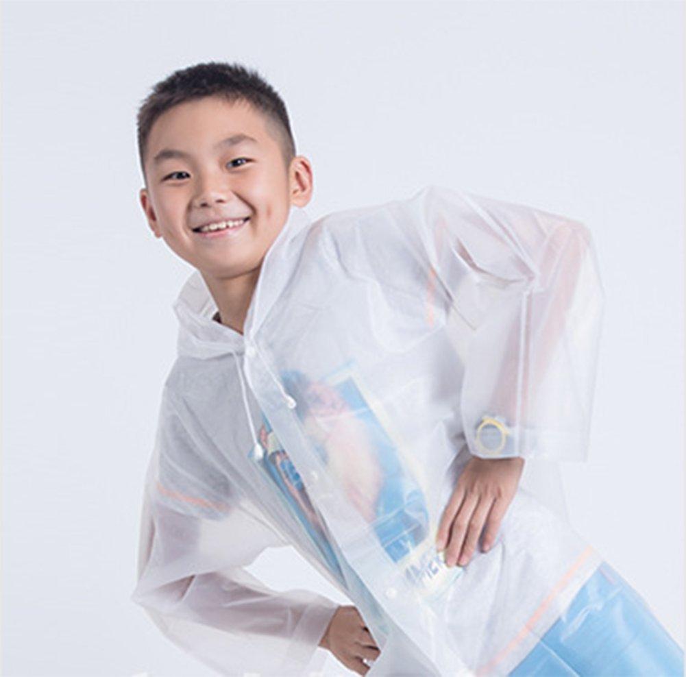 Milopon Raincoat poncho impermeabile per bambini EVA impermeabile per bambini lungo Rainwear Yellow