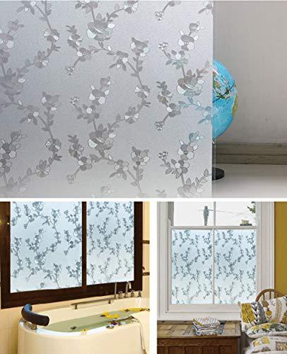 JIAOHJ Glass Sticker, Kitchen Balcony Bathroom Static Light Opaque Window Door Window Matte Film Window Sticker-d 120x300cm(47x118inch) ()