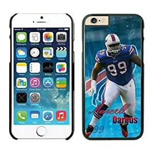 NFL iPhone 6 4.7 Inches Case Buffalo Bills Marcell Dareus Black iPhone 6 Cell Phone Case KXWFRTYE0525