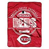"MLB Cincinnati Reds ""Structure"" Micro-Raschel Throw, Red, 46 x 60-Inch"