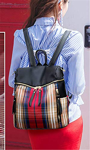 Rojo Negro Portatil Mochila Impermeable Casual Piel Grandes Escolares Moda Bandolera Niña Skitor Bolso Mochilas Shopper Mujer Cxav8Z