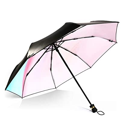 QYSZYG Pintura al óleo Creativo Paraguas de Sol Plegable ...