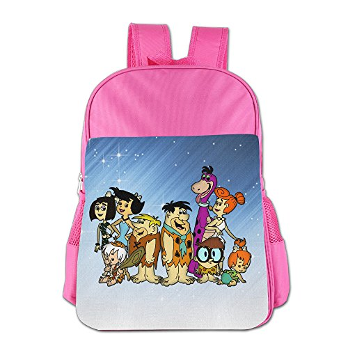 [FUOALF The Flintstones Kids Children Boys Girls Shoulder Bag School Backpack Bags] (Fred And Wilma Costumes To Make)