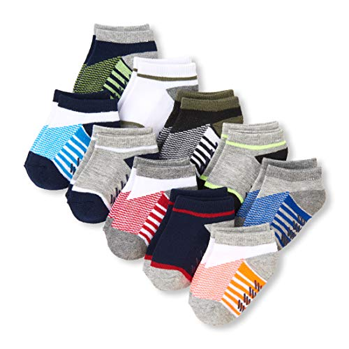 Baby Novelty Sock Sets - The Children's Place Baby Boys 10 Pack Novelty Printed Ankle Sock Set, Multi CLR, 6-12MONTHS