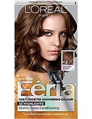 L'Oréal Paris Feria Permanent Hair Color, 51 Brazilian Brown (Bronzed Brown)