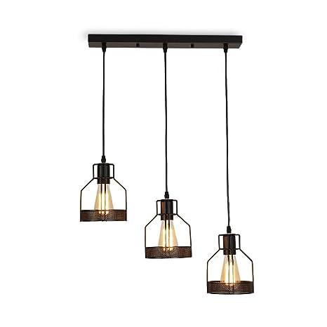 Vintage industrial Lámpara Colgante de Techo,3 luces de ...