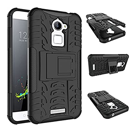 huge discount 7af7d 1283a Chevron Hybrid Military Grade Armor Kick Stand Back Cover Case for Coolpad  Note 3 Lite, 5 Inch (Black)
