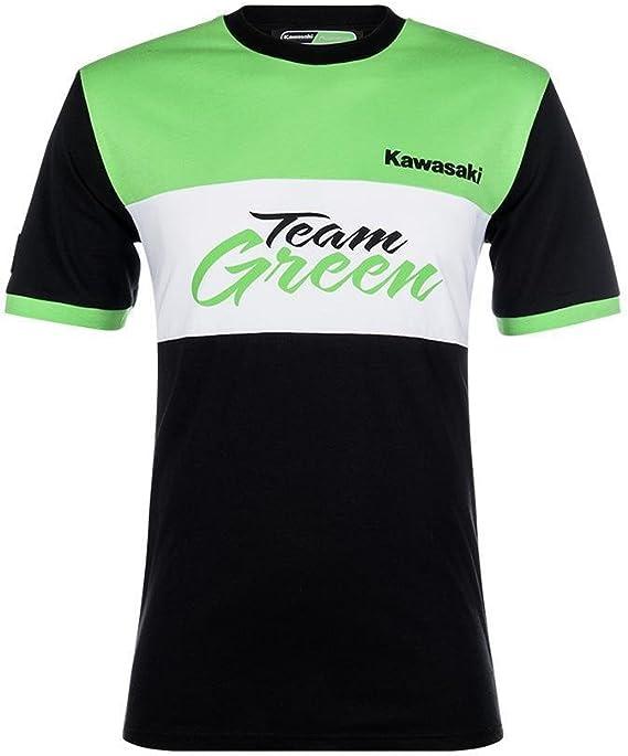 Kawasaki - Camiseta de manga corta - para niño schwarz weiß grün: Amazon.es: Ropa y accesorios