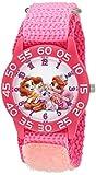 Disney Girl's 'Palace Pet' Quartz Plastic and Nylon Watch, Color:Pink (Model: W002832)