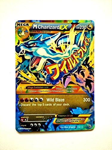 Charizard Mega EX Cards Pokemon Mega EX Cards for 1 Dollar Gold Flash Light cards M Charizard EX