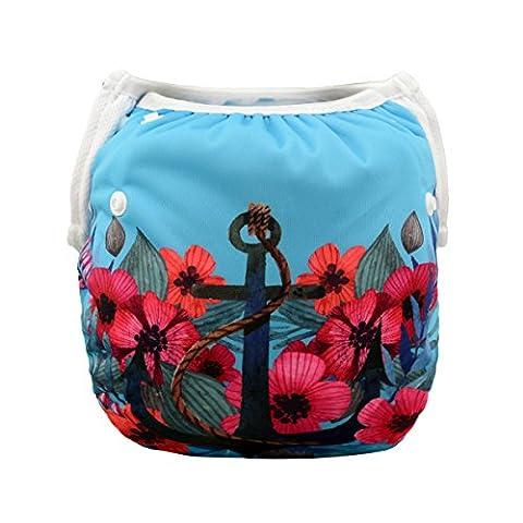 ALVABABY Baby Swim Underwear, Reuseable Washable Adjustable Swim Diapers, Baby Girl Swim Diaper SW27