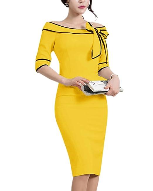 Mujer Vestidos Sin Hombros Vestido De Fiesta Vestidos De Cóctel Lápiz Bodycon De Trabajo: Amazon.es: Ropa y accesorios