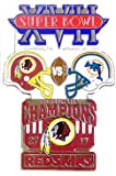 Super Bowl XVII Oversized Commemorative Pin