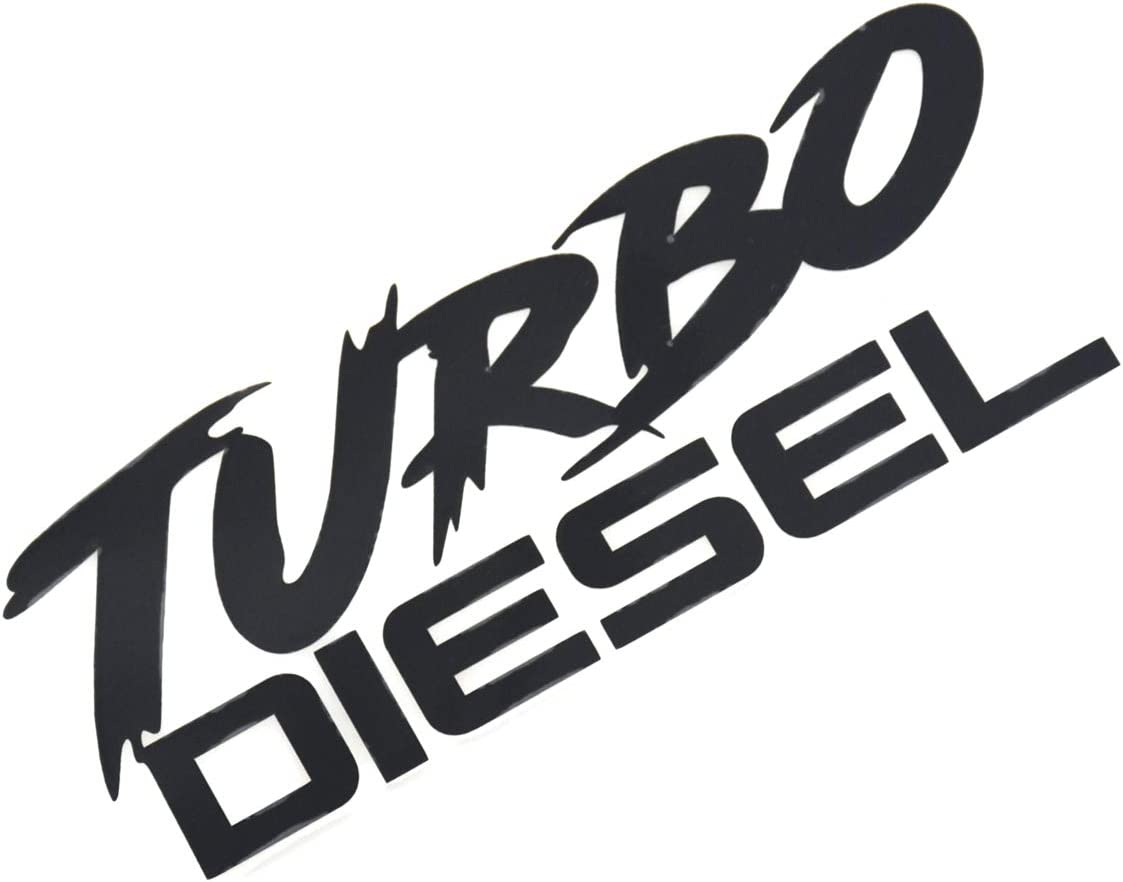 EmbRoom Turbo Diesel Decal Decal Sticker- Peel and Stick Sticker Graphic - - Auto, Wall, Laptop, Cell, Truck Sticker for Windows, Cars, Trucks (Black)