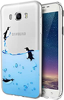 Eouine Funda Samsung Galaxy J5 2016, Cárcasa Silicona 3D Transparente con Dibujos Diseño Suave Gel TPU [Antigolpes] de Protector Case Fundas para Movil Samsung J52016-5,2 Pulgadas (Pingüinos): Amazon.es: Electrónica