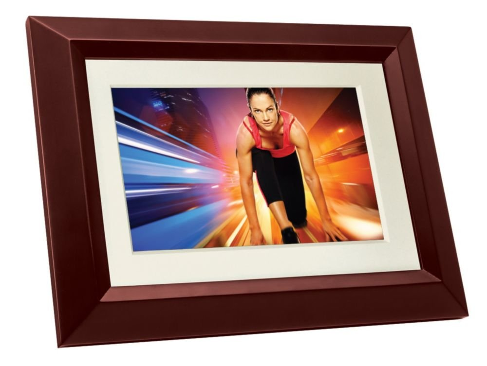 Philips SPF3402S/G7 10.1-Inch Digital Picture Frames (Brown/Black with White Matte) by Philips