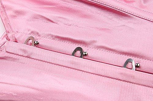 Cincher Bustiers Rosa Corsé Zamme Cintura Formación Mujer's Underbust tw8Oq7