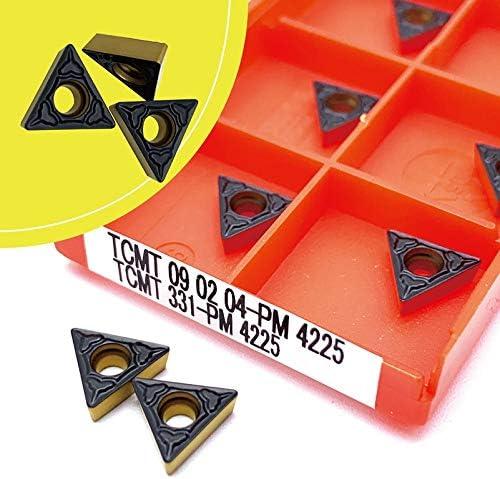 WITHOUT BRAND 10pcs Karbid-Einsätze TCMT090204 PM 4225 Metalldrehwerkzeuge TCMT 090.204 Drehwerkzeug Hard Alloy-Qualitäts-Drehplatten