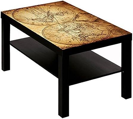 Mesa de Centro con diseño de mapamundi Antiguo 2: Amazon.es ...