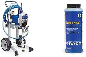 Graco 17G180 Magnum ProX19 Cart Paint Sprayer & 243104 Pump Armor, 1-Quart