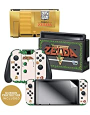 Controller Gear Nintendo Switch Skin & Screen Protector Set - The Legend of Zelda - Gold Cartridge - Nintendo Switch