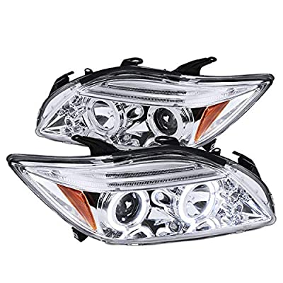Spec-D Tuning 2LHP-TC05-TM Chrome Projector Headlight (Halo Led): Automotive