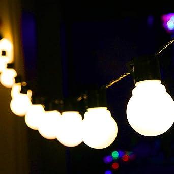 LED Solar String Light Bombillas de decoración de jardín al aire libre 3M 10 LED Solar Powered Globo impermeable Luces de bombilla String: Amazon.es: Iluminación