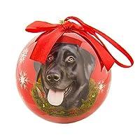 ECCRIS Cute Dog Black Labrador Christmas Ball Ornament Holiday Decorations Shatter Proof Ball, Black Labrador