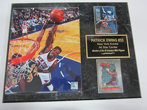Knicks Patrick Ewing 2 Card Collector Plaque #2