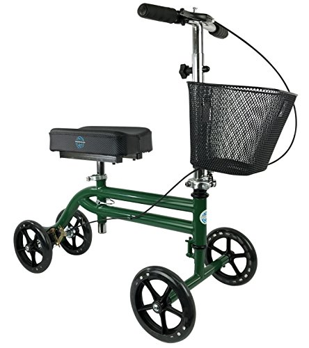 KneeRover Steerable Knee Scooter Knee Walker Crutches Alternative in Green by KneeRover