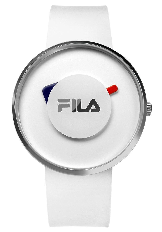 FILA Unisex-Armbanduhr Analog Quarz 38-019-001 FILASHION Weiß Silikon