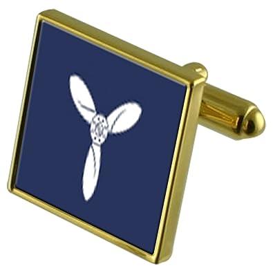 RAF Airforce Insignias de Rango de Tono Oro Aviones Senior Gemelos ...
