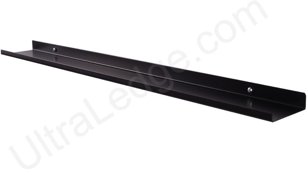 3 36 Black Over-the-Range ultraLEDGE Shelf Display Ledge Rack 3.5 deep